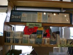 We have a great General Store that we offer a variety of different products. We offer a variety of joint supplements to help lubricate joints of older pets and help them feel young again.