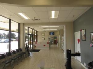 Our spacious reception area.